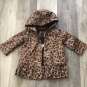 Gap leopard print Raincoat